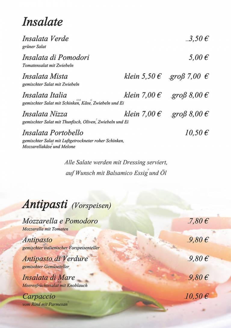 Salat und Antipasti