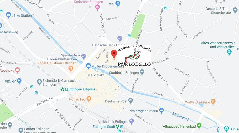 Karte für Portobello