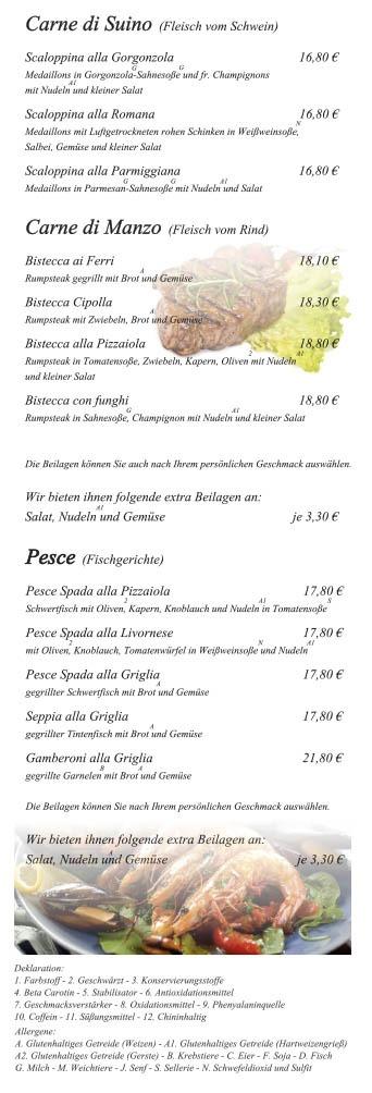 Portobello-Speisekarte Seite 4